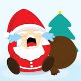 圣诞老人哭泣 库存照片