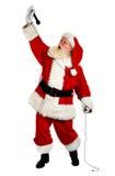 圣诞老人唱歌 免版税库存图片
