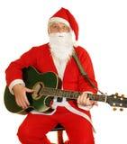 圣诞老人唱歌 库存图片
