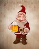 圣诞老人啤酒 库存例证