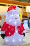 圣诞老人图与里面电灯泡的 库存照片
