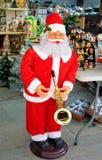 圣诞老人图在商店 免版税图库摄影