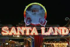 圣诞老人土地 库存图片