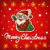 圣诞老人圣诞卡 免版税库存图片