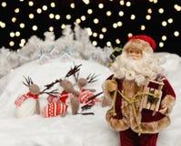 圣诞老人圣诞夜 免版税库存图片