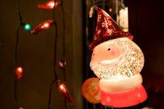 圣诞老人圣诞灯 免版税库存图片