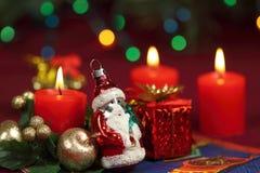 圣诞老人圣诞节中看不中用的物品  库存图片