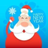 圣诞老人圣诞节假日新年快乐贺卡庆祝横幅 库存照片