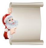 圣诞老人圣诞节海报 图库摄影