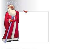 圣诞老人圣诞节的漫画人物 免版税库存照片