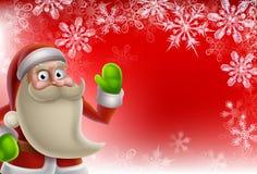 圣诞老人圣诞节边界背景 免版税库存图片