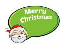 圣诞老人圣诞节问候 免版税图库摄影