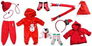 圣诞老人圣诞节婴孩红色事 免版税图库摄影