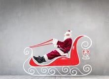 圣诞老人圣诞节Xmas假日概念 免版税库存照片