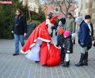 圣诞老人在克拉科夫 免版税库存照片