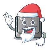 圣诞老人在桌上的动画片alt按钮 向量例证