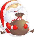 圣诞老人在白色背景绘了 免版税库存图片