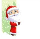 圣诞老人在白色背景绘了 免版税库存照片