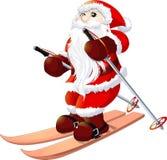 圣诞老人在白色背景绘了 库存照片