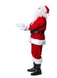 圣诞老人在白色隔绝了。 免版税库存照片