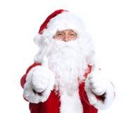 圣诞老人在白色隔绝了。 免版税图库摄影