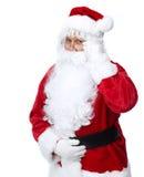 圣诞老人在白色隔绝了。 库存图片
