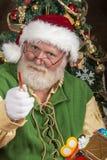 圣诞老人在车间 图库摄影