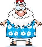 圣诞老人夏天 免版税图库摄影
