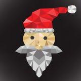 圣诞老人多角形 库存图片