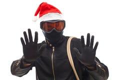 圣诞老人夜贼 库存照片