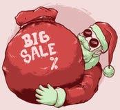 圣诞老人大销售设计 库存例证