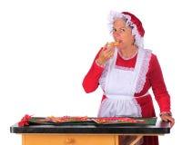 圣诞老人夫人品尝评测 库存图片