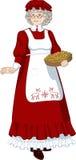 圣诞老人夫人母亲圣诞节字符 免版税库存图片