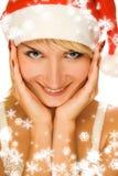 圣诞老人夫人 免版税库存图片