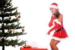 圣诞老人女士 免版税库存照片