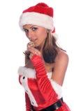 圣诞老人女士 免版税库存图片