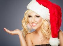 圣诞老人女孩 库存照片