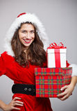 圣诞老人女孩 免版税库存图片