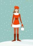 圣诞老人女孩 免版税图库摄影