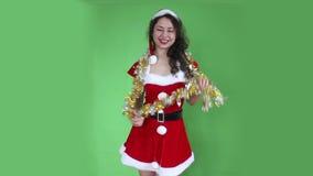 圣诞老人女孩 股票视频