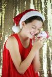 圣诞老人女孩 免版税库存照片