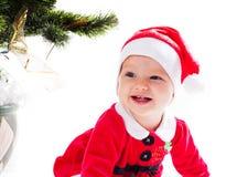 圣诞老人女婴 库存图片