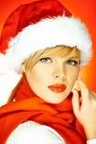 圣诞老人妇女 免版税库存图片
