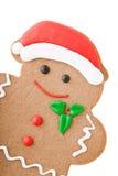 圣诞老人姜饼人 免版税库存照片