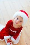 圣诞老人婴孩 库存照片
