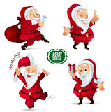 圣诞老人字符的圣诞节汇集您的设计项目的 图库摄影