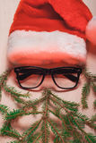 圣诞老人字符,一个红色帽子, 库存照片