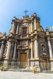 圣诞老人安娜教会在巴勒莫在西西里岛,意大利 免版税图库摄影