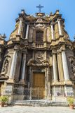 圣诞老人安娜教会在巴勒莫在西西里岛,意大利 库存图片