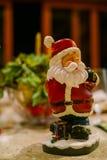 圣诞老人小玩具装饰 免版税图库摄影